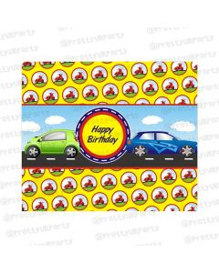 Transport theme chocolate wrappers