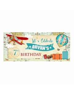 Personalized Travel Theme Banner 30in