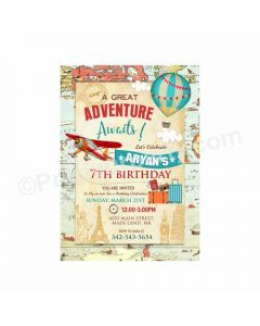 Travel Theme Invitations