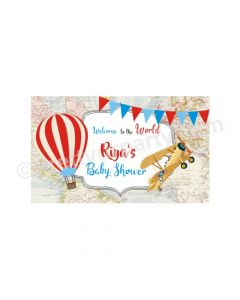 Travel Baby Shower Theme Backdrop