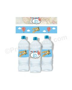 Travel Baby Shower Bottle Labels