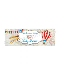 Personalized Travel Baby Shower Banner 30in