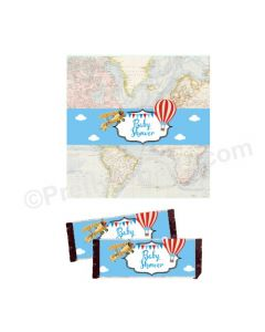 Travel Baby Shower Chocolate Wrappers