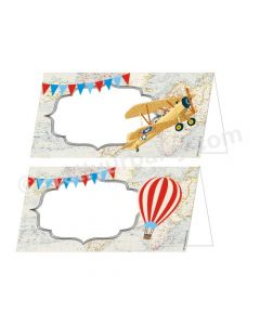 Travel Baby Shower Food Labels / Buffet Table Cards