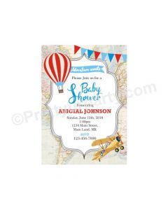 Travel Baby Shower Invitations