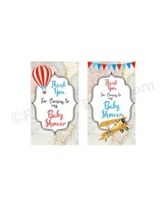 Travel Baby Shower Thankyou Cards