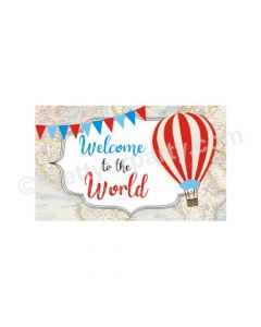 Travel Baby Shower Entrance Banner / Door Sign