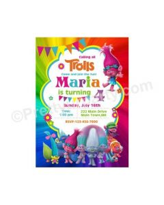 Trolls Theme E-Invitations