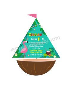 Tropical Boat Invitations