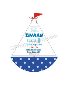Tropical Boat Invitations - Blue