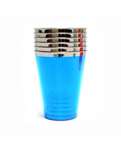 Tumbler Plastic Glasses Blue - (Pack of 6)