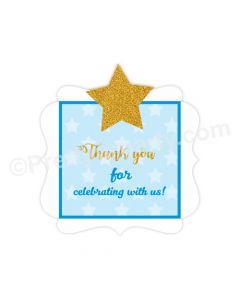 Twinkle Twinkle Little Star Handcrafted Thank you Tags