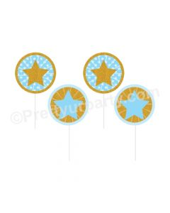 Twinkle Twinkle Little Star Boy Handcrafted Cupcake Toppers