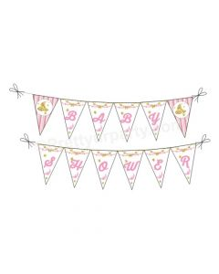 Twinkle Girl Baby Shower Bunting