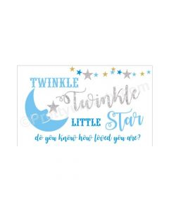 Twinkle Twinkle Little Star Boy Theme Backdrop