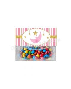 Twinkle Girl Baby Shower Treat Bag Toppers