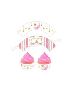 Twinkle Girl Baby Shower Cupcake Wrappers
