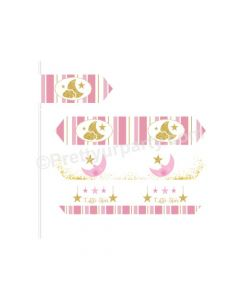 Twinkle Girl Baby Shower Straws