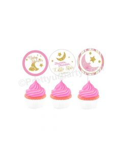 Twinkle Girl Baby Shower Cupcake / Food Toppers