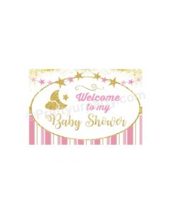 Twinkle Girl Baby Shower Entrance Banner / Door Sign