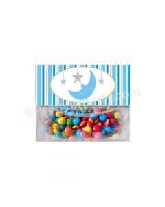 Twinkle Boy Baby Shower Treat Bag Toppers