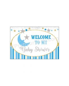Twinkle Boy Baby Shower Entrance Banner / Door Sign
