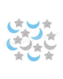 Blue Twinkle Twinkle Little Star Confetti