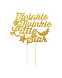 Twinkle Twinkle Little Star Theme Cake Topper