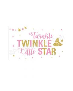 Twinkle Twinkle Little Star Girl Theme Backdrop