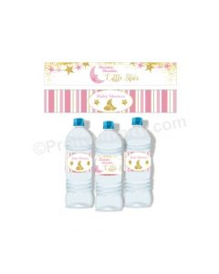Twinkle Girl Baby Shower Bottle Labels