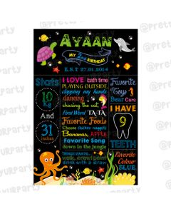 Under the Sea Chalkboard Poster