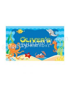 Under the Sea Theme Backdrop