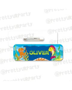 Under the Sea Theme Badge / Name Tag