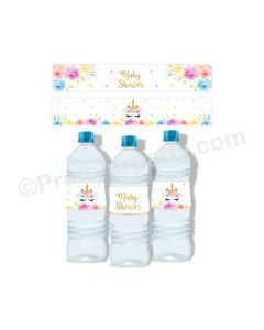 Unicorn Baby Shower Bottle Labels