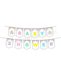 Unicorn Baby Shower Bunting