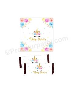 Unicorn Baby Shower Chocolate Wrappers