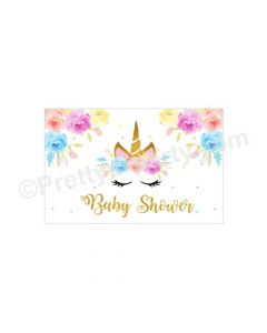 Unicorn Baby Shower Table Mats