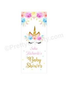 Unicorn Baby Shower Door Banner