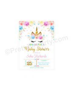 Unicorn Baby Shower E-Invitations
