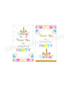 Unicorn Baby Shower Thankyou Cards