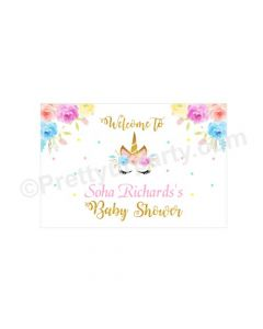 Unicorn Baby Shower Entrance Banner / Door Sign