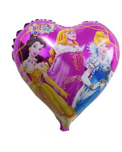 Heart Shaped Princess Foil Balloon
