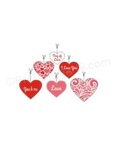 Handcrafted Valentines Danglers