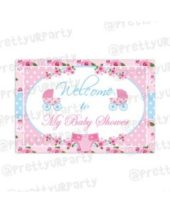 Shabby Chic Entrance Banner / Door Sign
