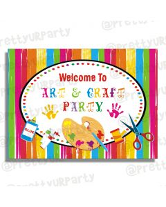 Art & Craft Party Entrance Banner / Door Sign