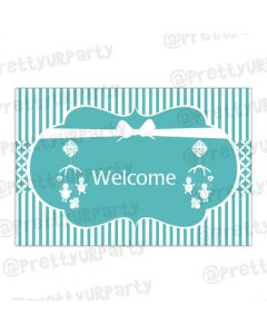Tiffany entrance banner / door sign