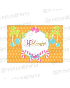 Merry and Bright Entrance Banner