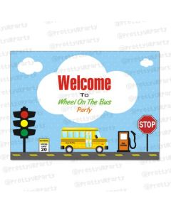 Wheels On The Bus Theme Entrance Banner / Door Sign