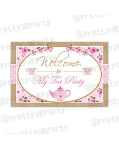 Tea Party Entrance Banner