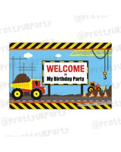 New Construction Theme Entrance Banner / Door Sign